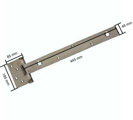 Cellar flap hinge 450mm self coloured steel ironmongerydirect - Cellar door hinges ...