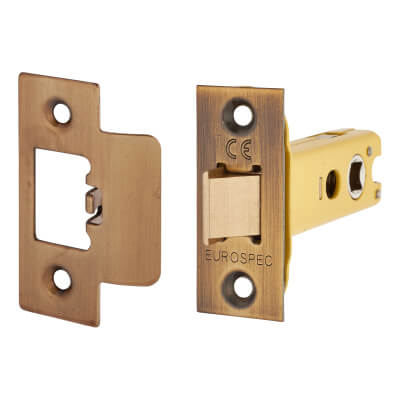 Altro Heavy Duty Tubular Latch - 78mm Case - 57mm Backset - Florentine Bronze