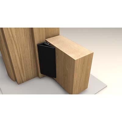 FingerWizard Half Set - 1950mm - Hinge Side Only - Black