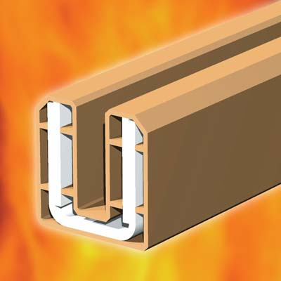 System 90 Plus Intumescent Glazing Seal For Glazed Screens and Fire Doors - Brown