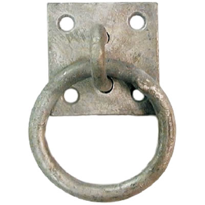 Ring on Plate - 8mm - Galvanised