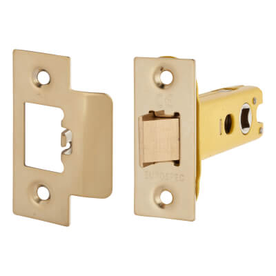 Altro Heavy Duty Tubular Latch - 78mm Case - 57mm Backset - Electro Brass