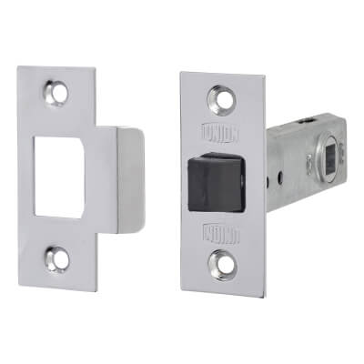 UNION® 2648 Tubular Mortice Latch - 80mm Case - 57mm Backset - Silver Enamel