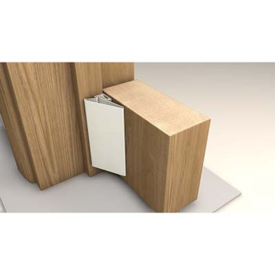 FingerWizard Half Set - 1950mm - Hinge Side Only - White