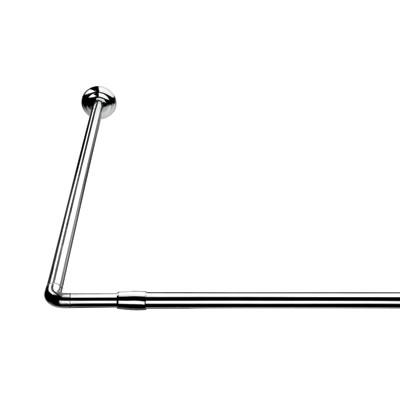 Croydex Shower Rail - L Shaped - Telescopic Rod - 1400-2600mm - Chrome