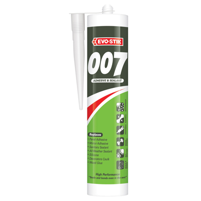 Evo-Stik 007 Adhesive & Sealant - 290ml - Clear