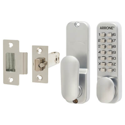 Arrone® Code Lock - Holdback Option - Satin Chrome Plated