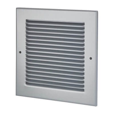 Vent Cover Grille - 190 x 190mm to suit transfer vent 150 x 150mm - Silver