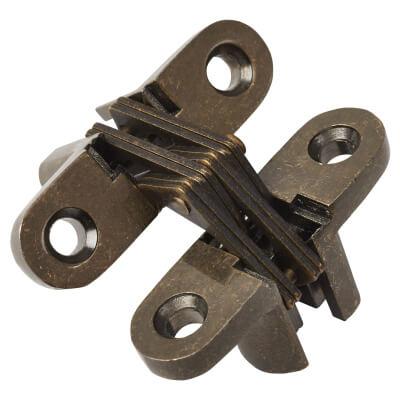 Tago Concealed Soss Hinge - 44.5 x 13mm - Antique Brass