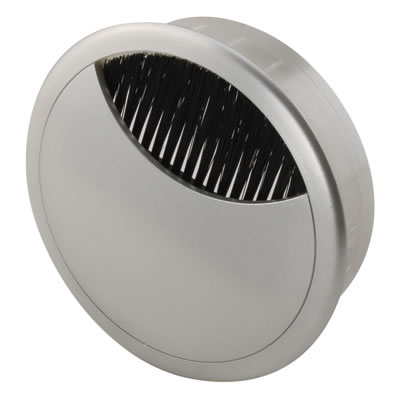 ION Round Cable Tidy - 80mm - Silver
