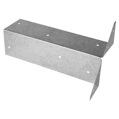 Arris Rail Fence Bracket - Galvanised - 300mm