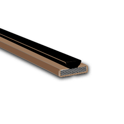 Fire & Smoke Intumescent Strip - 20 x 4 x 2100mm with Brush Pile - Brown