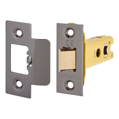 Altro Heavy Duty Tubular Latch - 78mm Case - 57mm Backset - Black Nickel