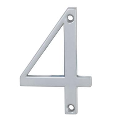 76mm Numeral - 4 - Satin Chrome
