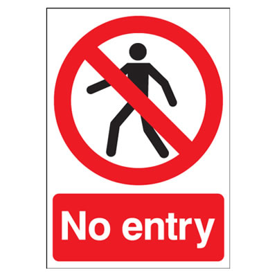 No Entry - 420 x 297mm - Rigid Plastic