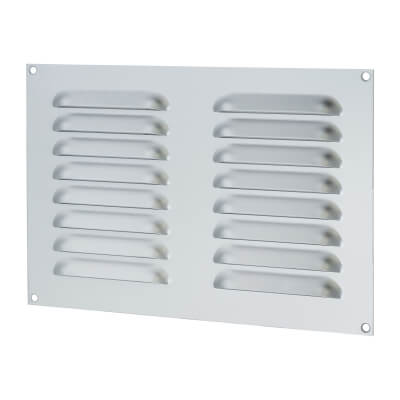 Hooded Louvre Vent - 242 x 165mm - 6650mm2 Free Air Flow - Satin Aluminium