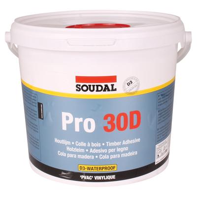 Soudal Pro 30D PVA Wood Adhesive - 5000ml