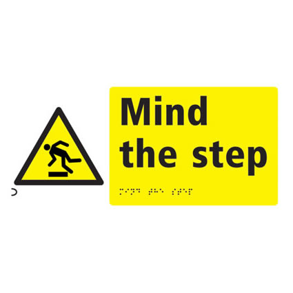 Mind The Step Sign - Braille