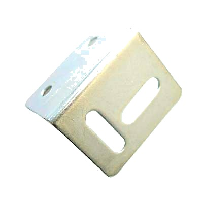Strong Pattern Angled Table Stretcher Plate - 38 x 25 x 25mm - Bright Self Colour Steel