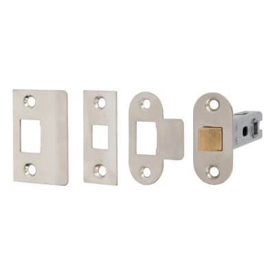 Project Bolt Through Tubular Latch - 76mm Case - 56mm Backset - Nickel Plated