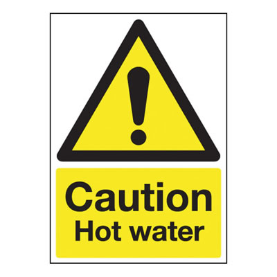 Caution Hot Water - 250 x 100mm