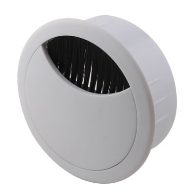 ION Round Cable Tidy - 60mm - White