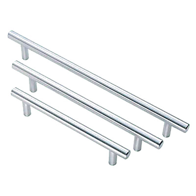 Touchpoint 12mm T-Bar Cabinet Handle - 224mm Centres - Satin Chrome