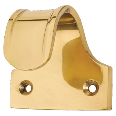 Budget Sash Finger Lift - 50 x 35mm - Polished Brass