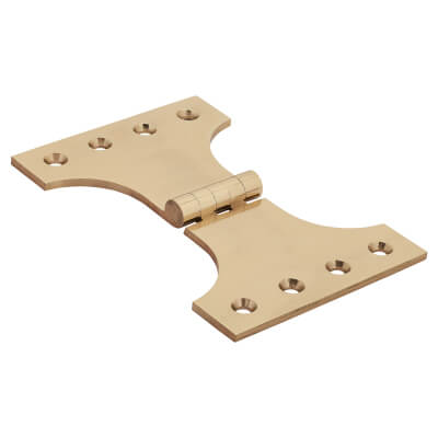 Jedo Heavy Parliament Hinge - 102 x 102 x 152mm - Polished Brass