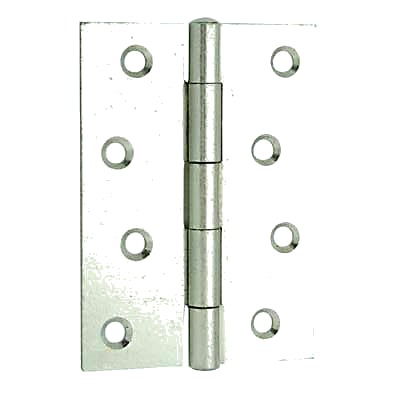 Steel Hinge - 100 x 67mm - Bright Zinc Plated