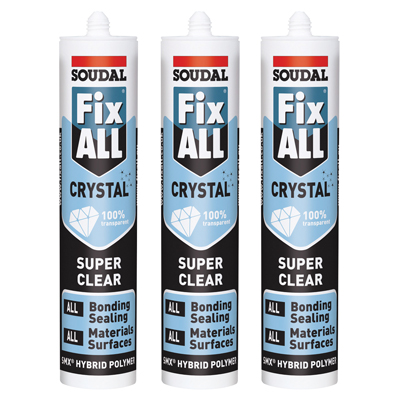 Soudal Fix All Crystal - 290ml - Pack of 3