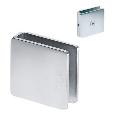 Glass to Glass Clamp - Wall Mount - 8-12mm Glass - Polished Chrome