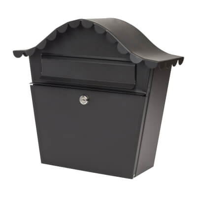 Sirocco Mailbox - 350 x 315 x 105mm - Black