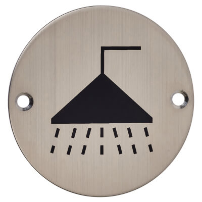 Shower - 75mm - Satin Stainless Steel