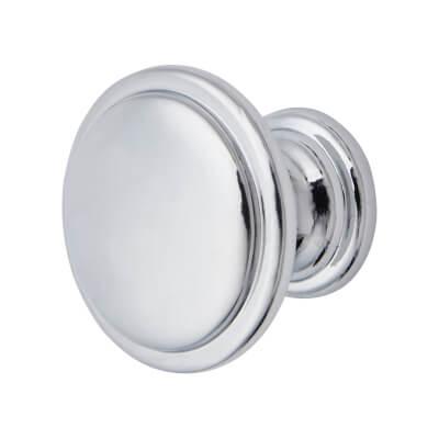 Elan Disc Cabinet Knob - 30mm Diameter - Polished Chrome