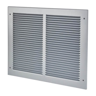 Vent Cover Grille - 350 x 300mm to suit transfer vent 300 x 250mm - Silver