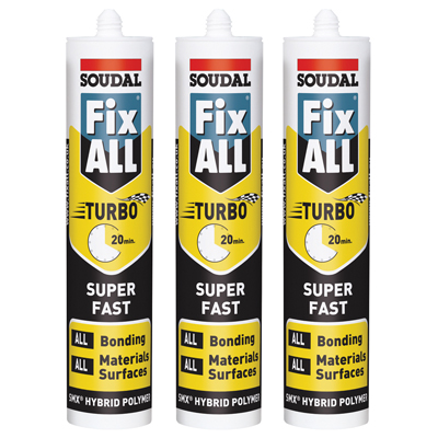 Soudal Fix All Turbo - 290ml - Pack of 3