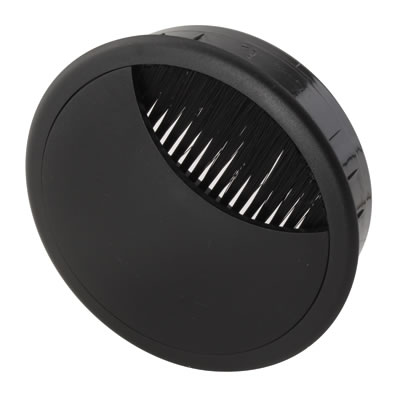 ION Round Cable Tidy - 80mm - Black