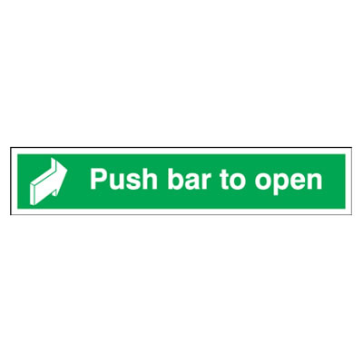 Push Bar To Open - 75 x 600mm - Rigid Plastic