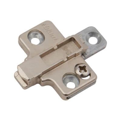 Blum Mounting Plate - 0mm Spacing - Zinc Diecast