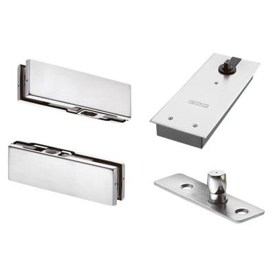 Floor Spring Door Kit for a Single Glass Door - Non Hold Open