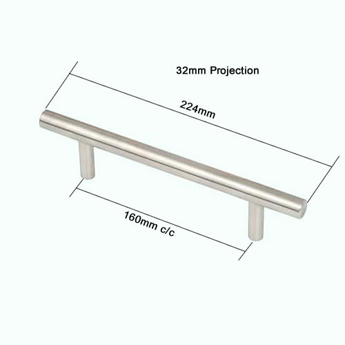 Handles With High Projection For Kitchen Cabinets