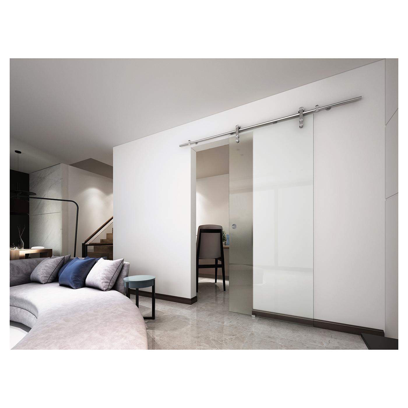 Vetroglide Glass Sliding Door Gear Only Ironmongerydirect
