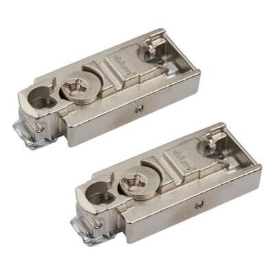 Blum CLIP Straight Mounting Plate - Screw On - 3mm - Zinc Diecast - Pair