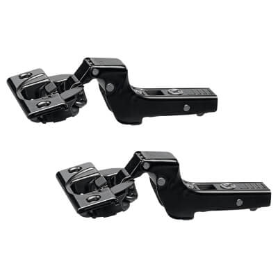 Blum CLIP Top Soft Close Cabinet Hinge - 110° - Inset - Black Onyx