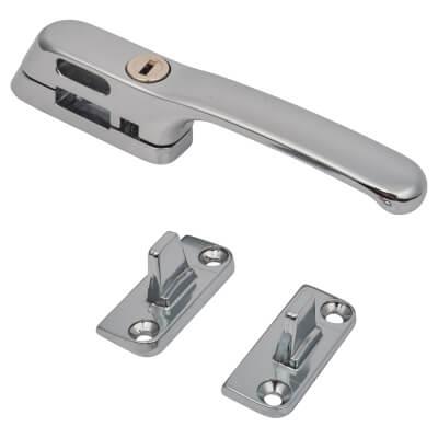 Fab & Fix Craftsman Casement Fastener Locking - Chrome)