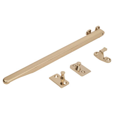Fab & Fix Craftsman Casement Stay Bar Non Locking - Gold