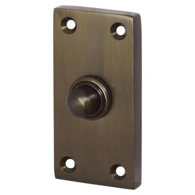Jedo Bell Push - 80 x 30mm - Dark Bronze