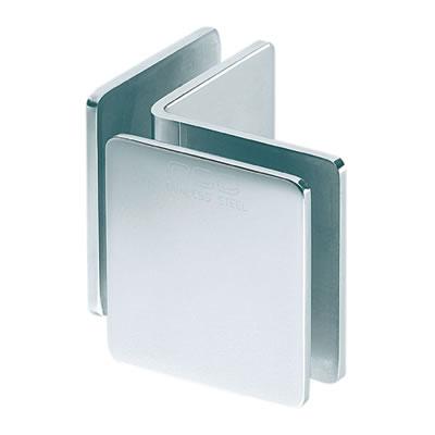 Glass to Glass Clamp - 90° - 8-12mm Glass - Polished Chrome)