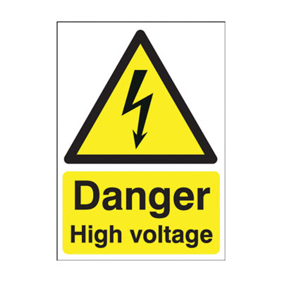 Danger High Voltage - 420 x 297mm